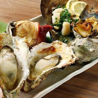 全国各地から仕入れた牡蠣を使用!自慢の牡蠣料理