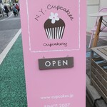 ニューヨークカップケーキ - 看板