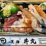 丼丸 - 刺身の盛り合わせ 500円(税抜)