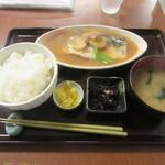 野方食堂 - 「さば味噌煮定食」一式