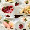 宮崎地どり みやこ - 料理写真:付出しの鶏刺し、ずり刺し、皮の甘酢和え。