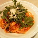 Ristorante Azekura - 本日のパスタ3種類から生ハムと白インゲン豆のトマトソース