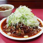 菜苑 - 純レバ炒め(850円)+ライス(250円)