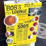 BOB'S LOUNGE - 店前のメニュー表です。(その1)