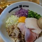 121911574 - 地鶏の鶏油そば(880円)+味たま(100円)