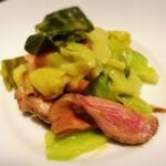 121915017 - 鴨胸肉とキャベツの温製サラダ