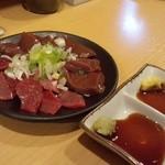 やきとん万備 - 2012.3 レバちれ合盛り(500円)