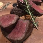 grilled beef winebar zuiji - 食べ比べ