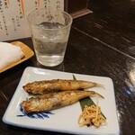 舞扇 - 旬のめひかり一夜干し炙り(二尾茨城沖産)
