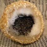 中華バルSAISAI。 - 胡麻団子熱々!外カリッと中はモチモチで       胡麻の香ばしさと甘さで美味しい。