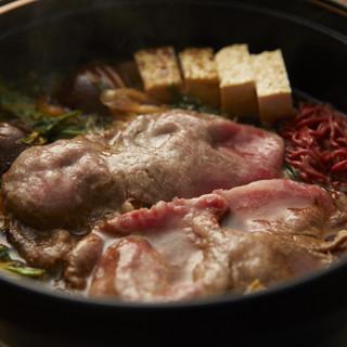 近江牛の「すき焼き」「出汁しゃぶ」