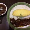 クロック - 料理写真:チーズオムレツカレー  トッピングスペアリブ
