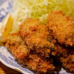 とんかつ ゆたか - 牡蠣フライ