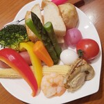 アンリヴァージュ - ◆チーズフォンデュ (旬の食材10種)