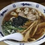 まるいち - ワンタンメン大盛(1,050円税込)