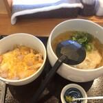 丸天うどん専門店 万平 - 親子丼セット ¥850