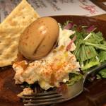 Pizza & Wine BotoRu - 燻製玉子と奈良漬けのポテトサラダ