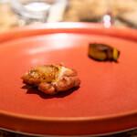 RISTORANTE&BAR EVOLTA - 川俣軍鶏の炭火焼き ポロ葱添え