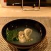 kiwa - 料理写真:真牡蠣と女池菜の吸い物