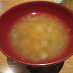 ⽥町 そばまえ by moto - お通しの「酒粕汁」