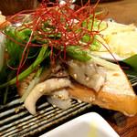121968357 - 銀鮭の麹漬け焼き ローストした木の子と生姜の香り
