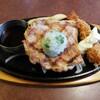 Bigguboi - 料理写真:しそおろしチキンステーキ&エビフライ