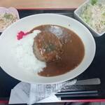 コミックレストラン ヒビキ - 日替り定食(ハンバーグカレー・750円)