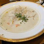 桜珈琲 - 料理写真:この日の日替わりスープは ごぼうのポタージュスープ