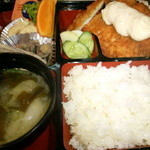 食季楽 風香 - ランチ ジャンボチキンタルタル定食 ¥600