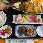 お食事処 かね光水産 - 料理写真:アジフライ定食 1760円。