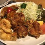 喜神菜館 - 酢豚・唐揚げ・小海老天♪