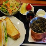 桜珈琲 - 料理写真:こんがりオープンサンドモーニング