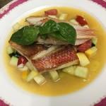ホスペデリアアモーレ - 尾長鯛のソテー夏野菜ソース