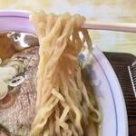 味龍 - チャーシューワンタン麺 麺アップ