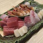 日本酒・和食処 神田 木花 - 鮮魚5点盛り