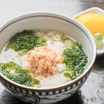 恩納つばき - 鮭とアーサのお茶漬け