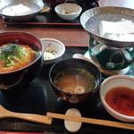 庵珠 - 湯葉丼と湯豆腐のセット