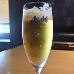 Yakinikukappoutsukitohasu - 焼肉ランチのドリンクからグラスビールをチョイス♪