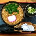 そば処 緑寿庵 - 料理写真:温だましそば¥650