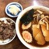 三角屋 - 料理写真:ラーメンと小肉めし 900円