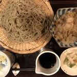 心蕎人さくら - 料理写真:かけ蕎麦 750円 プラス 炊き込み御飯260円