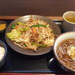 122042876 - 肉野菜炒め定食そばセット(税込1,000円)