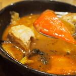 スープカレーGARAKU - とろとろ炙り焙煎角煮(パプリカ)