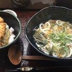 うどん第六感 - 天丼セット:¥1,050