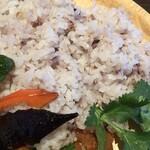 ブータンキッチン - ライスのアップ