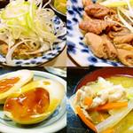 串屋横丁 - 煮込み、半熟味玉、豚汁。