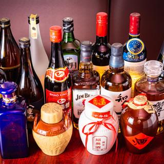 定番から紹興酒などの中国酒まで種類豊富!飲み放題付コースあり