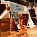 Bistro 十番スタンド - 東京クラフト(Pint)@1,000円:グラスはカールスバーグですが。【TOKYO CRAFT】のロゴが入った、パイントサイズのグラスが無いそうです。