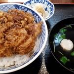 喜久家 - かき揚丼 1100円