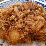 喜久家 - かき揚丼 UP タレの色は濃いめ